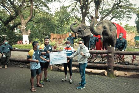 SIER Gowes ke Bonbin, Angkat Gajah Sumatera KBS Sebagai Anak Asuh