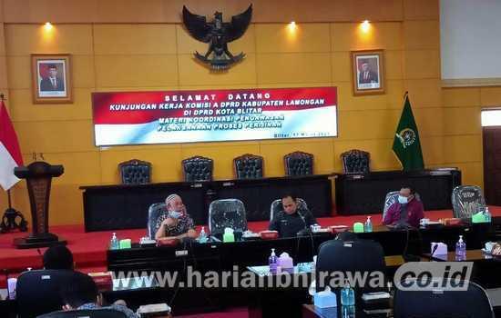 DPRD Kota Blitar Terima Kunjungan DPRD Kabupaten Lamongan
