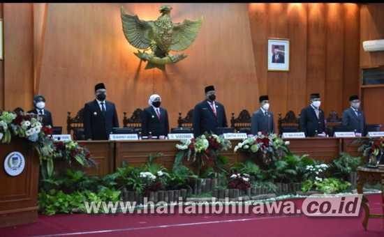 DPRD Kabupaten Kediri Gelar Rapat Paripurna Sertijab Bupati dan Wabup