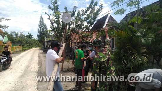 Satgas TMMD Ke-110 Kodim 0813 Bojonegoro Bantu Warga Benahi PJU