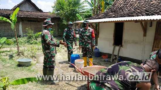 TMMD Bojonegoro, Kebahagian Warga Semangat bagi TNI untuk Terus Berkarya