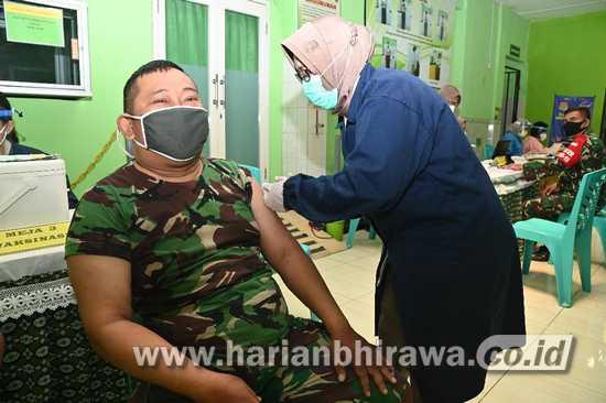 9.599 Personel Jajaran Kodam V/Brawijaya Jalani Vaksinasi Covid-19