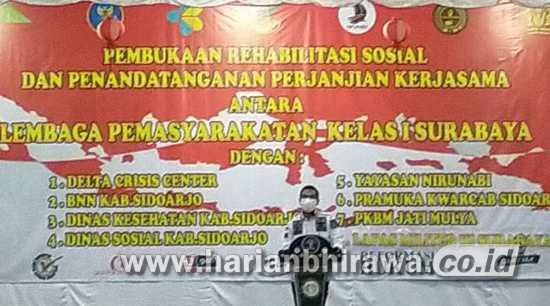 Jumlah Tahanan Narkoba Banyak, BNNK Sidoarjo Lakukan MoU Rehabilitasi Sosial