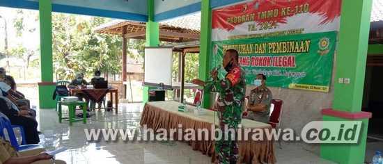 TMMD Bojonegoro, Danramil Tambakrejo Ingatkan Rokok Ilegal