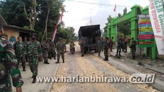TMMD Ke-110 Bojonegoro, 1 SST Pasukan BKO Brigif 16/WY Tiba di Jatimulyo