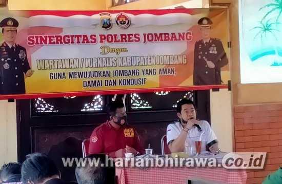 Jalin Sinergitas, Polres Jombang Gelar Pertemuan Dengan Wartawan