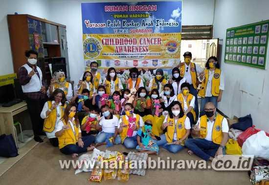Lions Club Surabaya-Malang Baksos ke Yayasan Peduli Kanker Anak