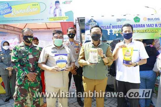 Jelang Ramadan, Bupati Pamekasan Launcing Pasar Murah