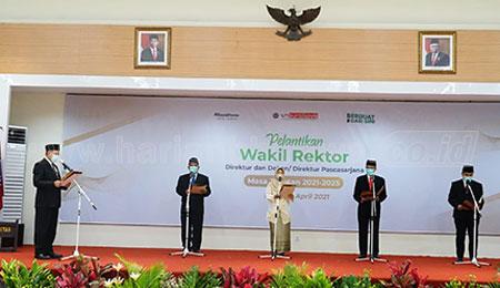 Empat Wakil Rektor Universitas Muhammadiyah (UM) Surabaya Dilantik