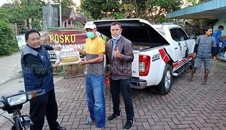KONI Kabupaten Malang Peduli Gempa, Bantu Ratusan Paket Beras
