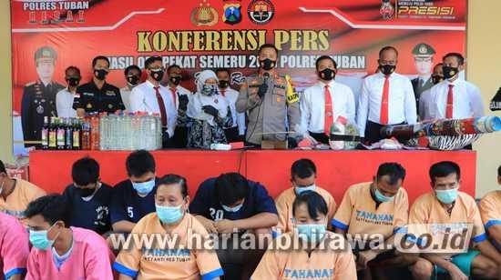 Dua Minggu, Polres Tuban Berhasil Ungkap 121 Kasus dan Amankan 131 Tersangka