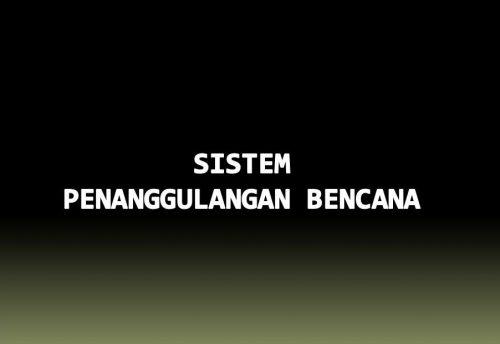 Sistem Mitigasi Bencana