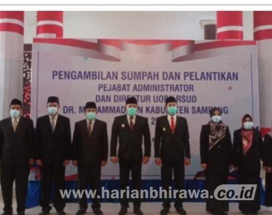 Bupati Angkat Pejabat Baru Dirut RSUD Sampang