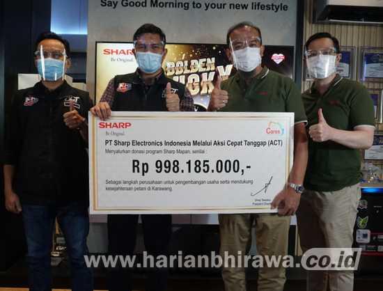 Sukses Kampanye Penjualan, PT Sharp Jalankan Program Pemberdayaan Masyarakat
