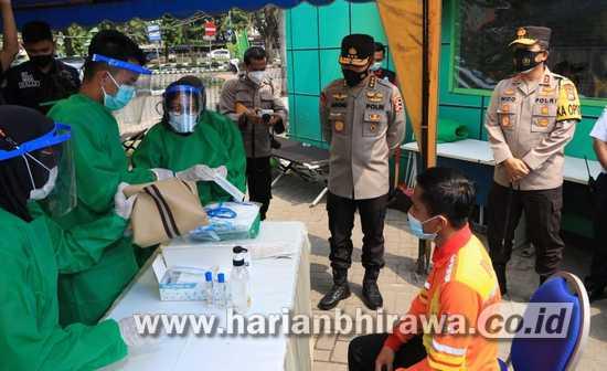 Irwasum Polri Pantau Titik Penyekatan Larangan Mudik di Jawa Timur