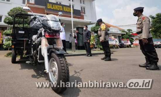 Bantu Operasional Tugas Batalyon C Brimob, Pemkot Hibah Kendaraan Roda Tiga
