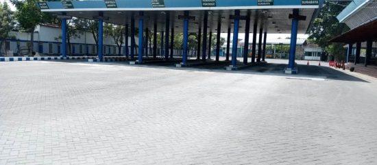 Terminal Gayatri Tulungagung Lengang di Hari Pertama Pelarangan Mudik