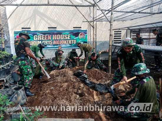 Kodim 0815/Mojokerto Kembangkan Tanaman Hortikultura & Hidroponik