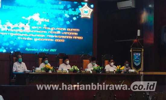 DPRD Kabupaten Probolinggo Bahas LPj Pelaksanaan APBD Tahun 2020