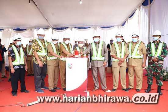 Bupati Jombang Lakukan Ground Breaking Pembangunan Sentra IKM Slag Aluminium