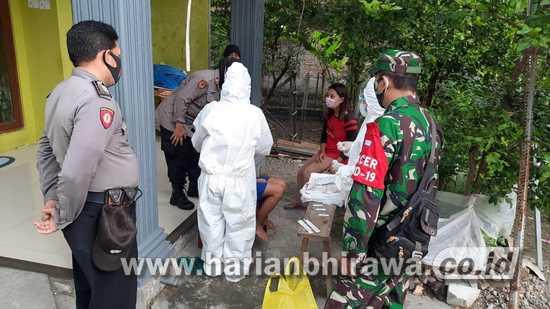 TNI Bersama Tim Medis Tingkatkan Tracing Warga