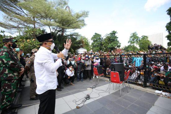 Temui Demo Warga Madura, Eri Cahyadi Dipuji Ketua PCNU Surabaya