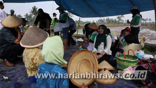 Masifkan Tanam-Panen Bareng, Perempuan HKTI Jatim Buktikan Komitmen Spirit Agraris