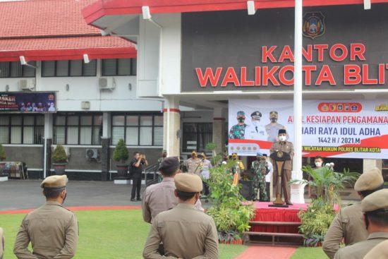 Wali Kota Blitar Pimpin Apel Pengamanan Hari Raya Idul Adha 2021
