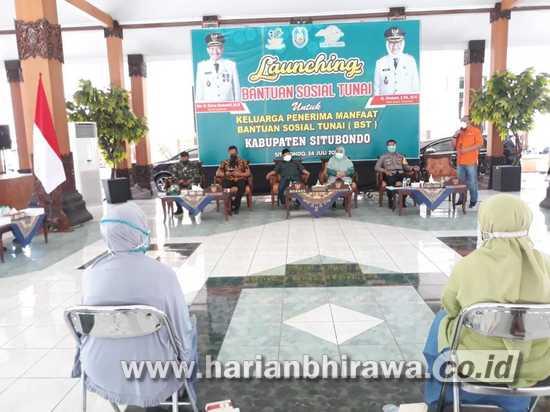 Bupati Situbondo Launching Penyaluran Bantuan Sosial Tunai