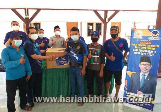 Anggota DPR RI Dapil Jatim II Beri Bantuan Mesin Potong Rumput