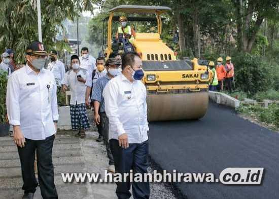 Bupati Jember Hendy Monitoring Pembangunan Peningkatan Jalan