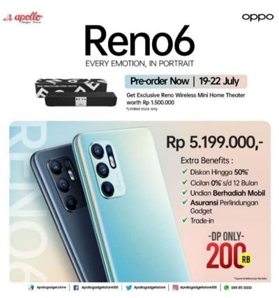 Oppo Reno 6 Diluncurkan dengan Spesifikasi Lengkap