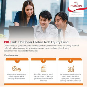 Prudential Indonesia Hadirkan PRULink US Dollar Global Tech Equity Fund