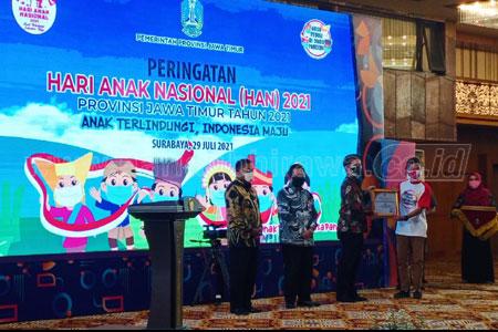 Jatim Raih Penghargaan Provinsi Layak Anak