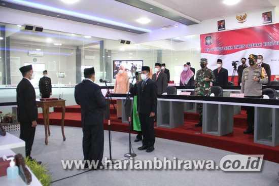 Wali Kota Blitar Lantik Priyo Suhartono sebagai Sekda Kota Blitar