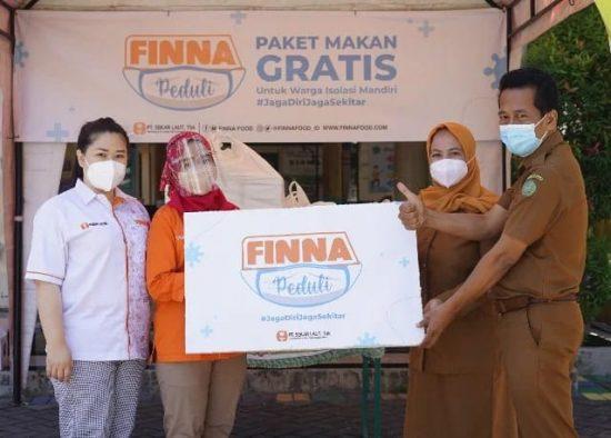 FINNA Food Salurkan CSR Warga Isolasi Mandiri Covid-19 di Sidoarjo