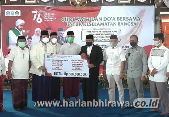 Pemkab Nganjuk Gelar Sholawat dan Doa Bersama untuk Keselamatan Bangsa