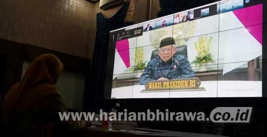 Wapres Ma'ruf Amin Buka RTDI dan RKCI 2021 Secara Daring
