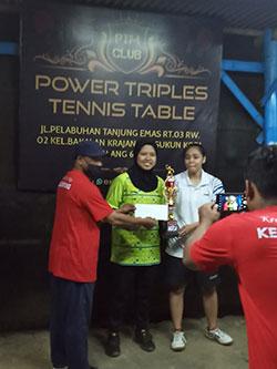 Ajang Pemanasan, Tenis Meja SMANOR Juara II