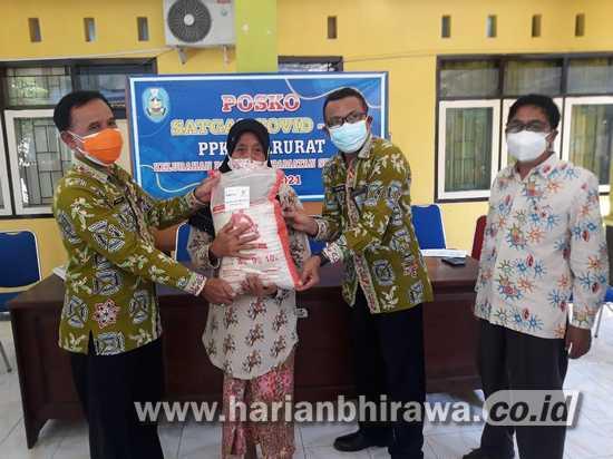 Bantuan Sembako Beras Resmi Digelontorkan untuk PPKM Darurat
