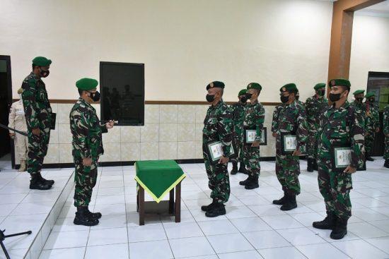 Dandim 0815/Mojokerto Sambut Dua Personel Satgaster Usai Tugas di  Indonesia Timur