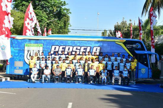 Launching Bus dan Tim Persela, Bupati Yuhronur Satukan Visi Towards to Glory