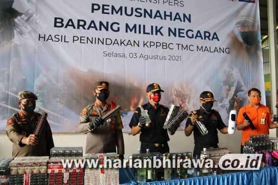 Penindakan KPPBC Madya Malang, Negara Dirugikan Rp 6,5 Miliar