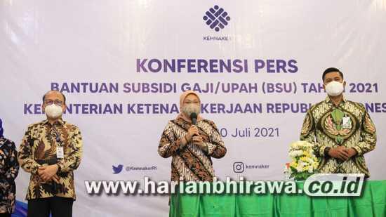 Menaker Ida Fauziyah Nyatakan Skema BSU 2021 Tak Sama dengan BSU 2020