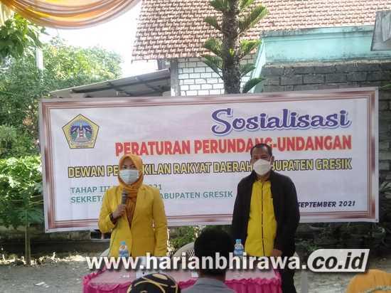 Anggota Fraksi Golkar DPRD Kabupaten Gresik Sosialisasi Tiga Perda