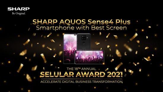 Sharp AQUOS Sense4 Plus Raih Best Screen The 18th Annual Selular Awards 2021