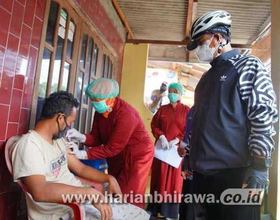 Wali Kota Madiun Tinjau Pemberian Antigen Gratis dan Vaksinasi Door to Door