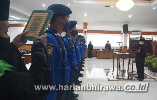 Wali Kota Blitar Lantik Pejabat Fungsional UPT Damkar Kota Blitar