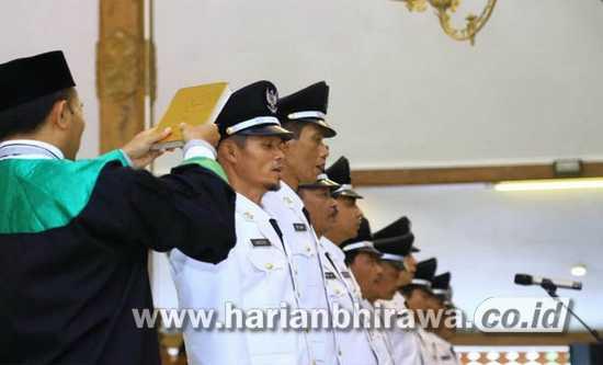 226 Nama Baru Pj Kades di Probolinggo Dilantik Plt Bupati Timbul