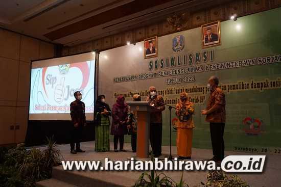 Dinas Sosial Provinsi Jawa Timur Launching Tagline, Aplikasi Sip Jos dan Sapa Bansos